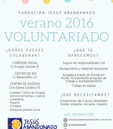 Voluntariado veraniego con la Fundación Jesús Abandonado